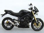 Street Triple 675. ZARD Low mounted-Exhaust. Stainless Steel 3-1, e-marked, With Cat.